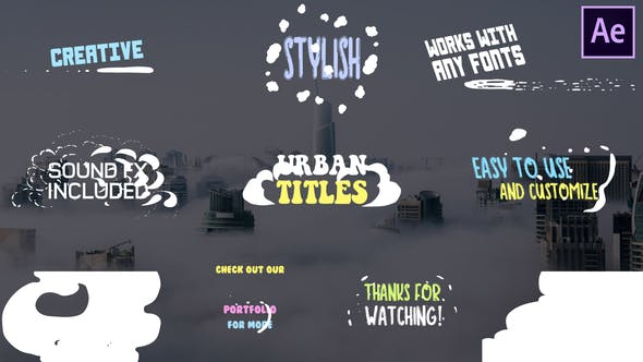 Thumbnail for Cartoon Urban Titles | After Effects
