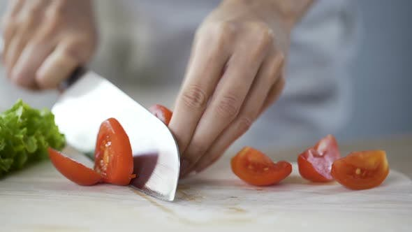Thumbnail for Housewife Preparing Ingredients for Cooking Family Dinner, Healthy Eating