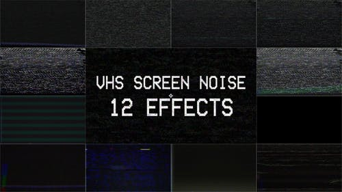 Old VHS Tape Screen Noise Overlay - 12 Effects