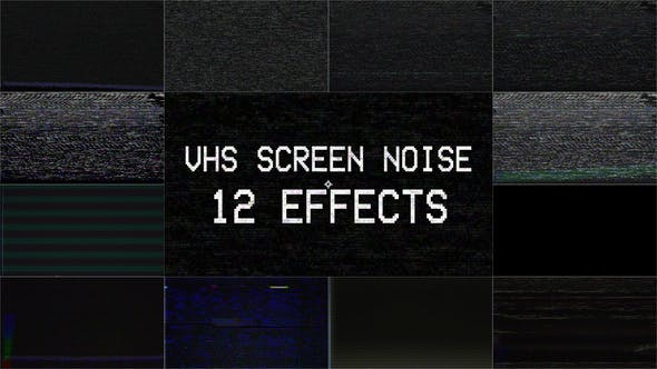 Thumbnail for Old VHS Tape Screen Noise Overlay - 12 Effects