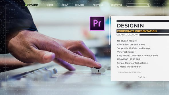 Thumbnail for Designin Corporate Presentation – Premiere Pro