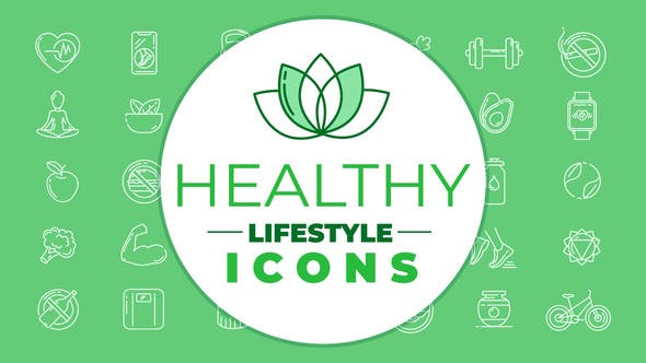 Thumbnail for Healthy Lifestyle Icons