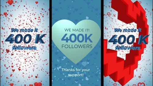 400K Followers Stories