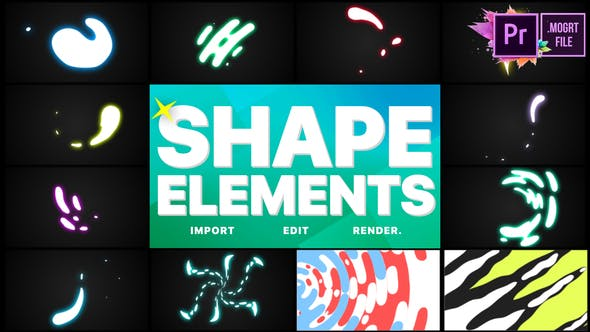 Thumbnail for Shape Elements Pack | Premiere Pro MOGRT