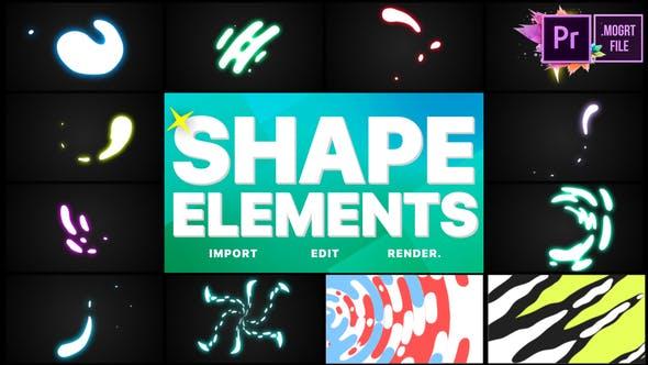 Thumbnail for Shapes Elements Pack | Premiere Pro MOGRT