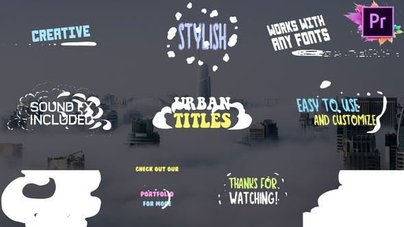 Thumbnail for Titres urbains | Premiere Pro MOGRT