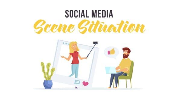 Redes sociales - Situación de escena