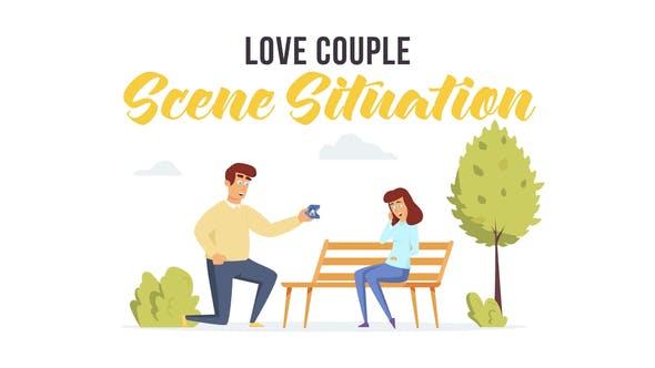 Thumbnail for Couple d'amour - Scène Situation