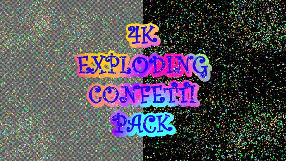 Thumbnail for 4k Exploding Confetti Pack