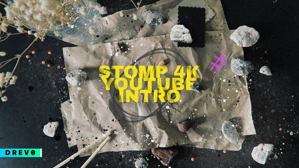 Stomp 4K Youtube Intro/ Typography/ Grunge/ Hand Made Opener/ Kitchen/ Fast/ Dynamic/ Clap/ Modern