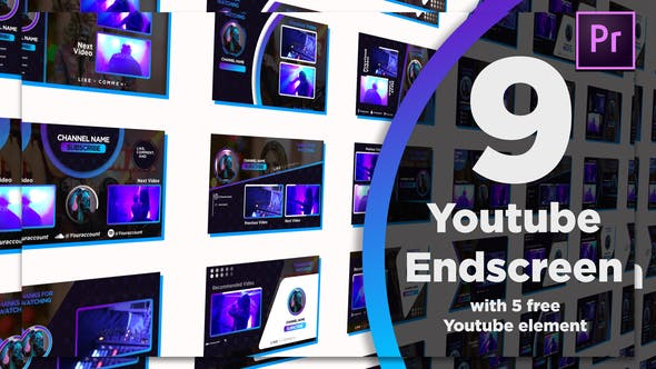 Thumbnail for Youtube End Screens 9+5