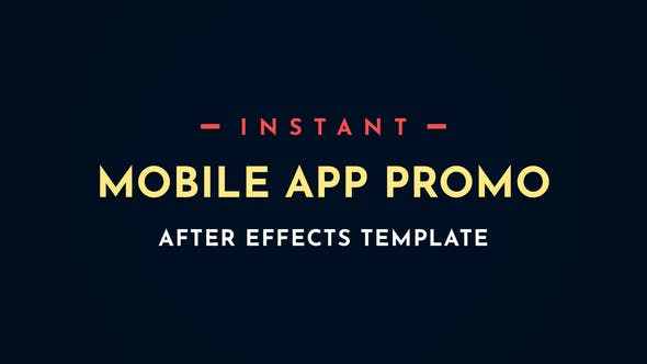 Thumbnail for Instant App Promo Mobile After-Effects Video Template