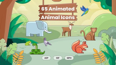 65 Animated Animal Icons