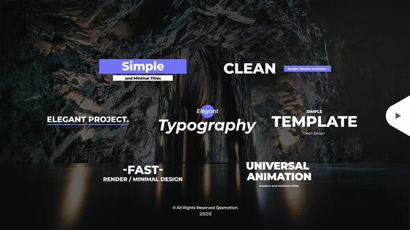 Thumbnail for Simple and Minimal Titles Pack