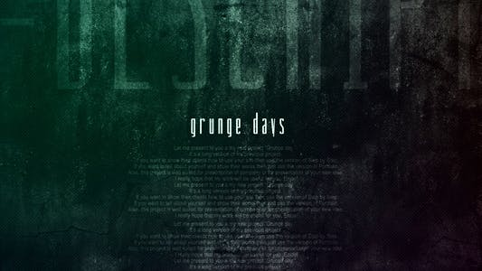 Cover Image for Días Grunge