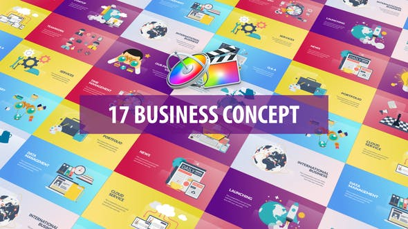 Thumbnail for Business Concept Animation | Apple Motion & FCPX