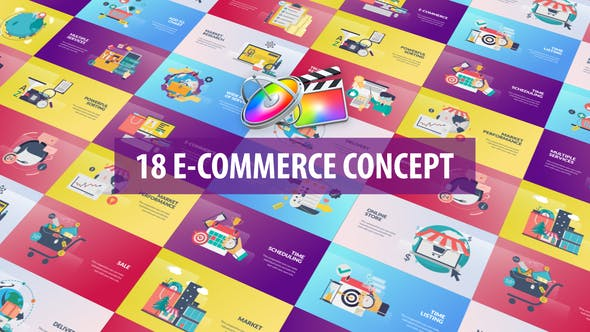 E-Commerce Concept Animation | Apple Motion & FCPX