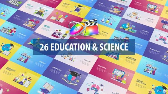 Thumbnail for Bildung und Wissenschaft Animation | Apple Motion & FCPX