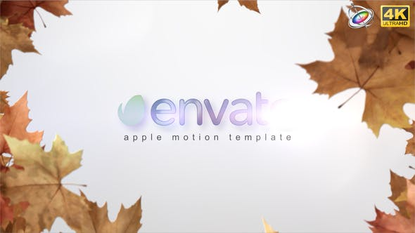 Thumbnail for Autumn Leaves Reveal - Apple Motion