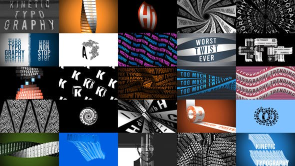 Thumbnail for Kinetic Typography Trending Posters