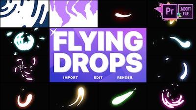 Flying Drops   Premiere Pro MOGRT