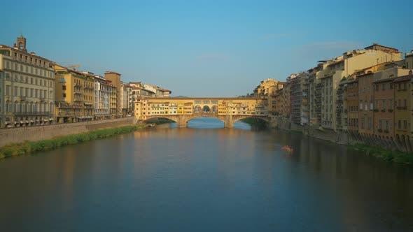 Ponte Vecchio Old Bridge Renaissance Architecture in Florence, Italy