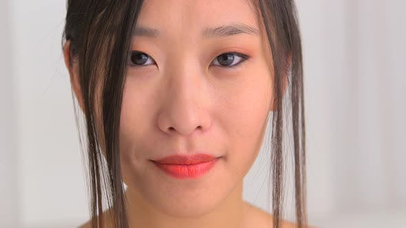 Thumbnail for Closeup of attractive Chinese woman
