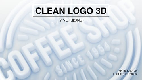 Clean Logo 3D Reveal (7-Pack)