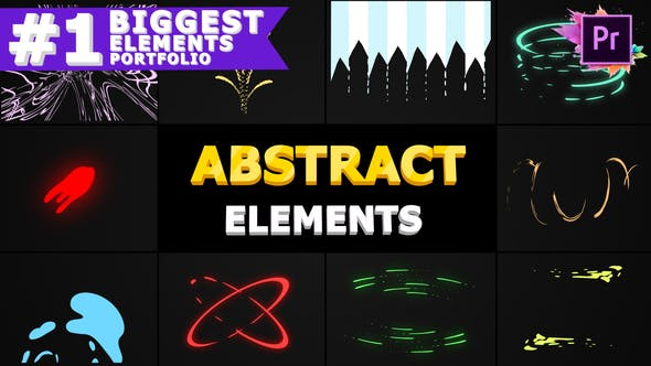 Thumbnail for Abstract Shapes   Premiere Pro MOGRT