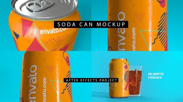 Soda Can Mockup 4K
