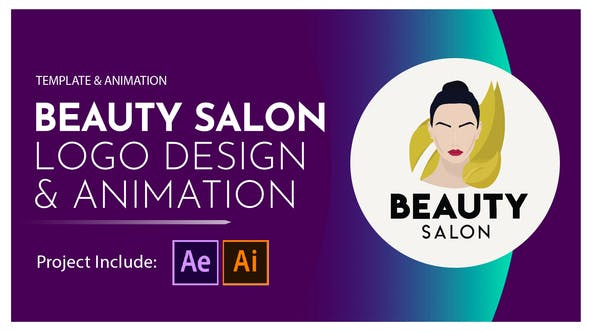 Thumbnail for Beauty Salon Logo Design and Animation