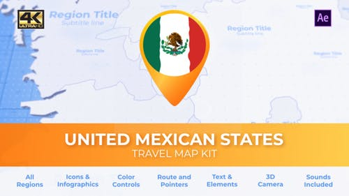 Mexico Map - United Mexican States Travel Map