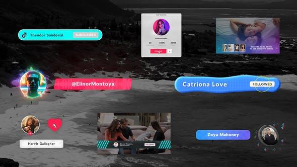 Tik Tok Subscribe Elements - Premiere Pro