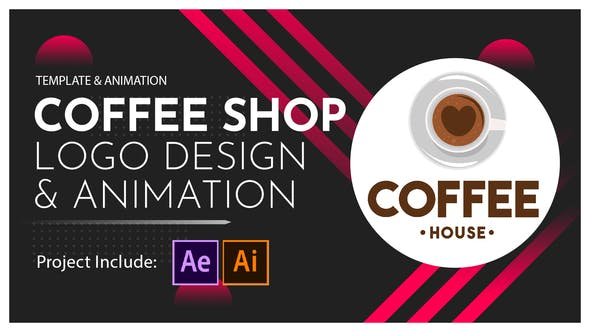 Thumbnail for Coffee Shop Logo Design and Animation