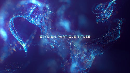 Stylish Particle Titles
