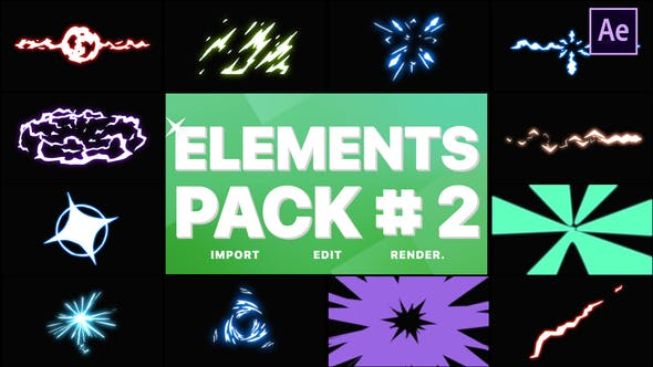 Thumbnail for Energy Elements Pack 02   After Effects