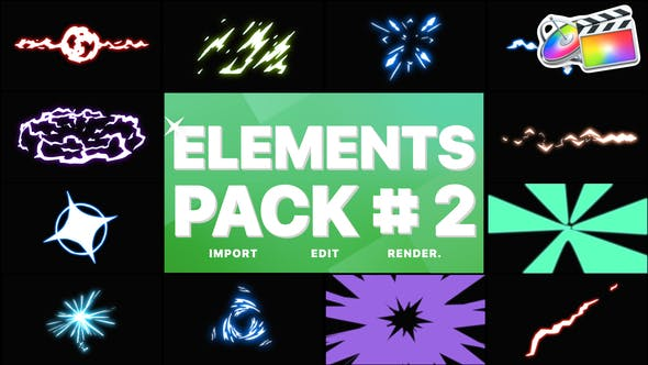 Thumbnail for Energy Elements Pack 02   FCPX