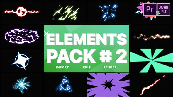 Thumbnail for Energy Elements Pack 02   Premiere Pro MOGRT
