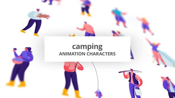 Thumbnail for Camping - Zeichensatz
