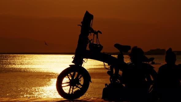 People Silhouette Near The Seaside 8