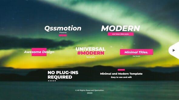 Titres créatifs et modernes