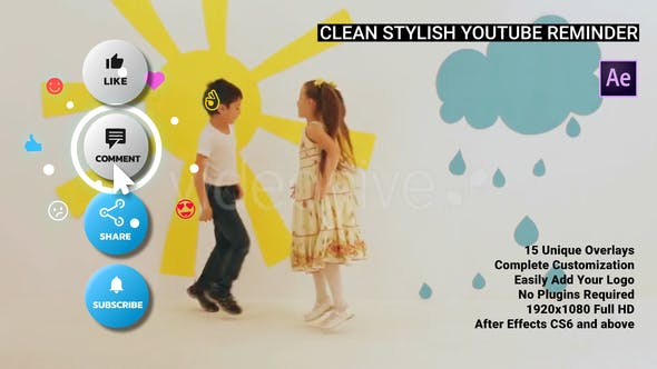 Clean Stylish YouTube Reminder – AE