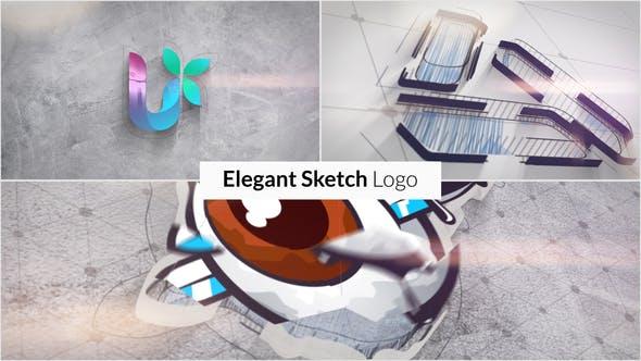 Thumbnail for Elegante Sketch Logo revelar