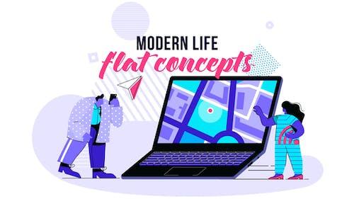 Modern life - Flat Concept