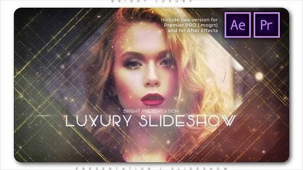 Presentación de diapositivas de lujo Brillante