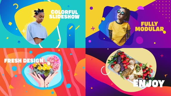 Thumbnail for Smooth Colorful Slideshow | After Effects