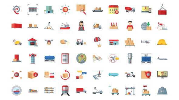 100 Management & Logistics Icons
