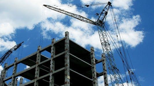 Thumbnail for Crane Construction Time Lapse 2