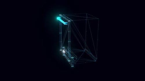 Cove Integrated Dishwasher Hologram Rotating Hd
