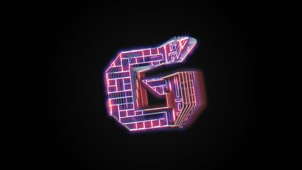 Logo Glitch Holo